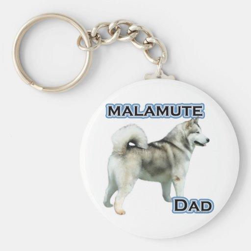 Papá 4 del Malamute de Alaska - llavero