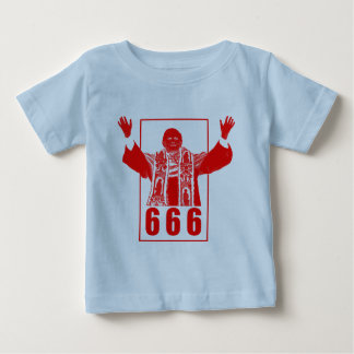 Papa 666 playera de bebé
