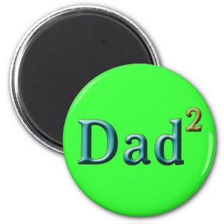 Papá a los regalos del día de padre del segundo imán redondo 5 cm