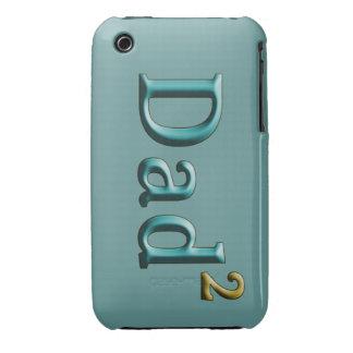 Papá a los regalos del día de padre del segundo iPhone 3 Case-Mate carcasas