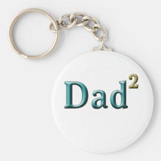 Papá a los regalos del día de padre del segundo llavero redondo tipo pin