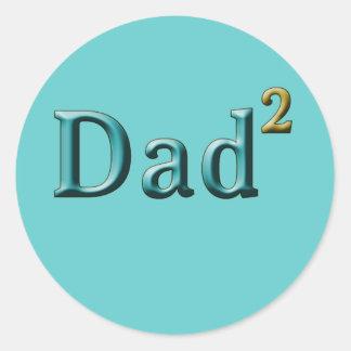 Papá a los regalos del día de padre del segundo pegatina redonda