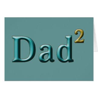 Papá a los regalos del día de padre del segundo tarjeta de felicitación