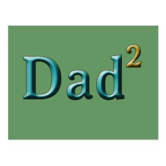 Papá a los regalos del día de padre del segundo tarjetas postales