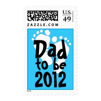 Papá a ser 2012 - huellas blancas franqueo