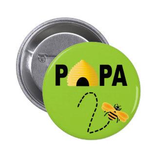 Papá a ser botón pins