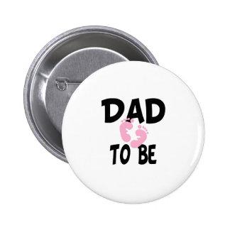 Papá a ser (chica) pin