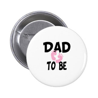 Papá a ser (chica) pin redondo 5 cm