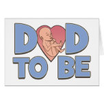 Papá a ser de maternidad tarjeton
