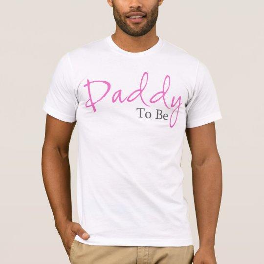 Papá a ser (escritura rosada) playera