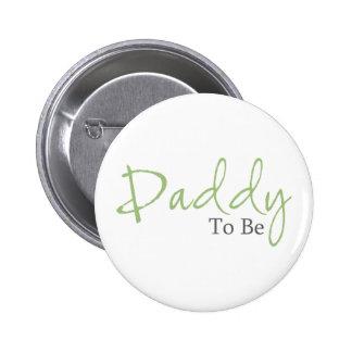 Papá a ser (escritura verde) pin