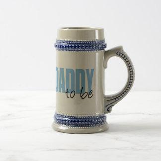 Papá a ser (fuente azul del bloque) jarra de cerveza