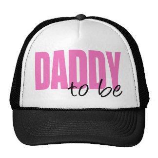 Papá a ser (fuente rosada del bloque) gorras de camionero