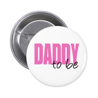 Papá a ser (fuente rosada del bloque) pin