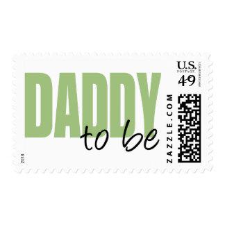 Papá a ser (fuente verde del bloque) sellos