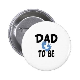 Papá a ser (muchacho) pin redondo de 2 pulgadas