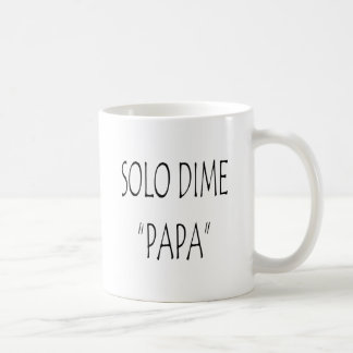 Papá a solas de la moneda de diez centavos taza de café