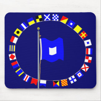 Papa About to Sail Nautical Signal Flag Mouse Pad