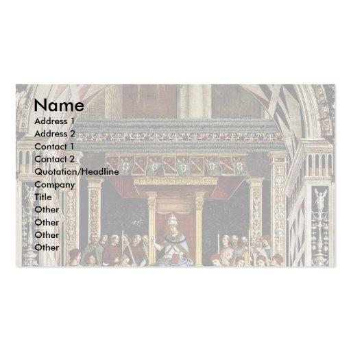 Papa Aeneas Piccolomini Canonize Catherine Tarjetas De Negocios
