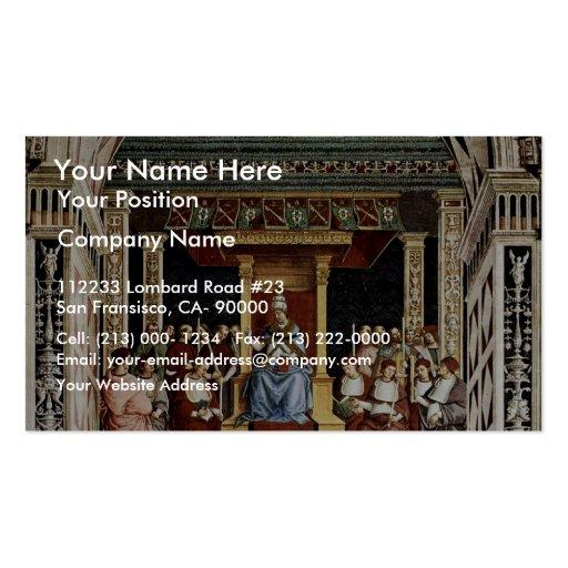 Papa Aeneas Piccolomini Canonize Catherine Tarjeta De Visita