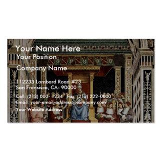 Papa Aeneas Piccolomini Canonize Catherine Tarjetas De Visita