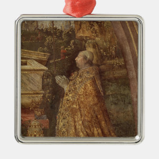 Papa Alejandro VI, 1492 Adorno Navideño Cuadrado De Metal