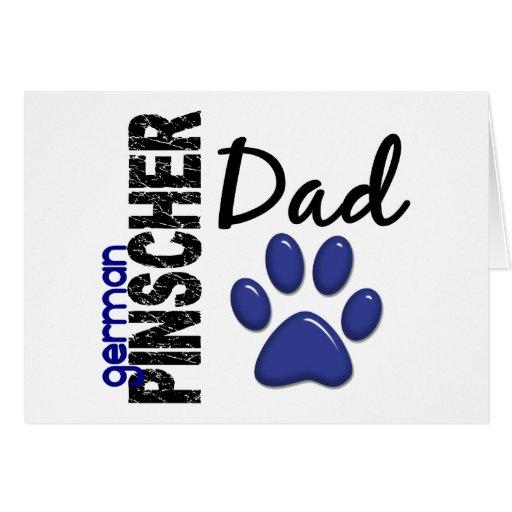 Papá alemán 2 del Pinscher Tarjeta De Felicitación