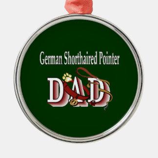 Papá alemán del indicador de pelo corto ornamentos de navidad