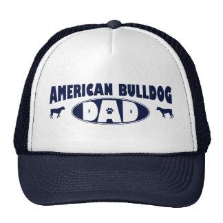 Papá americano del dogo gorras