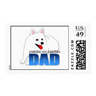 Papá americano del perro esquimal sello