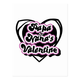 Papa and Nana's Valentine T-shirts and Gifts Postcard