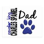 Papá arrogante 2 del perro de aguas de rey Charles Postal