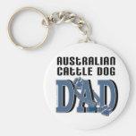 PAPÁ australiano del perro del ganado Llaveros Personalizados