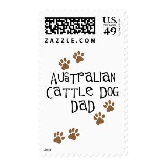 Papá australiano del perro del ganado franqueo