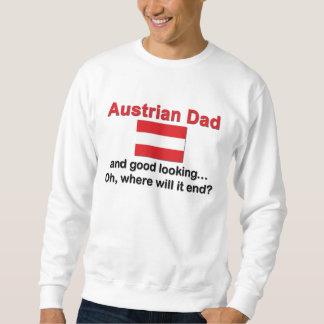 Papá austríaco apuesto sudadera con capucha