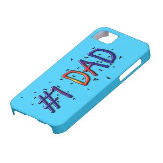 Papá azul del día de padre #1 funda para iPhone 5 barely there