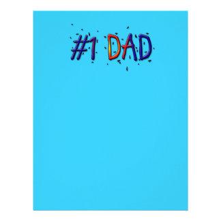 Papá azul del día de padre #1 membrete a diseño