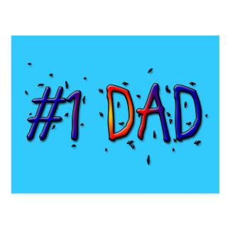 Papá azul del día de padre #1 postal