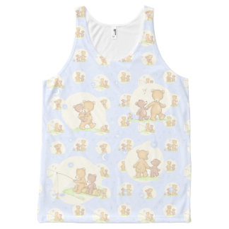 Papa Bear and Son All-Over Print Tank Top