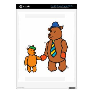Papa bear and son cartoon skin for xbox 360 console