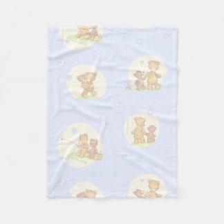 Papa Bear and Son Fleece Blanket
