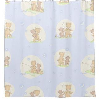 Papa Bear and Son Shower Curtain