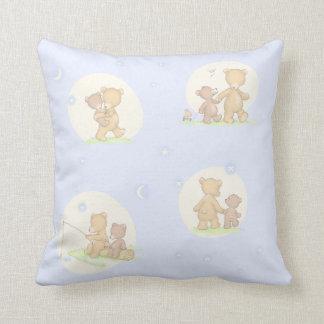 Papa Bear and Son Throw Pillow