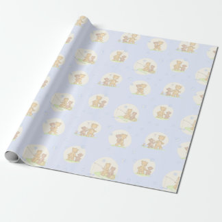 Papa Bear and Son Wrapping Paper