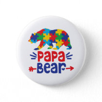 Papa Bear | Autism Dad Button