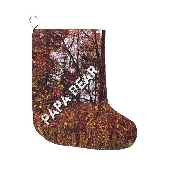 papa bear autumn camo christmas stocking - Camo Christmas Stocking