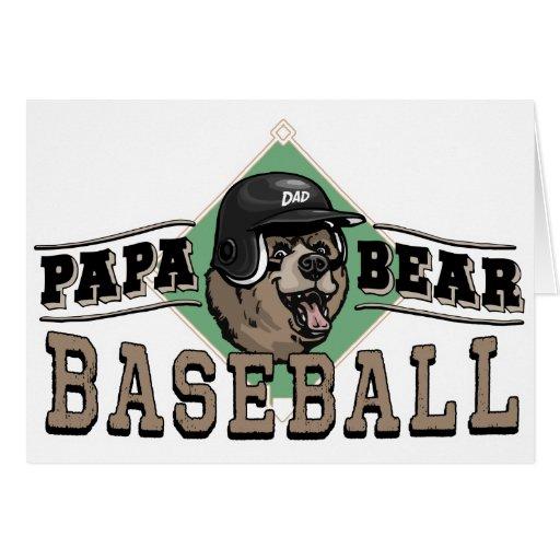 Papa Bear Baseball by Mudge Studios Greeting Card