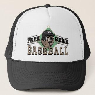 Papa Bear Baseball by Mudge Studios Trucker Hat
