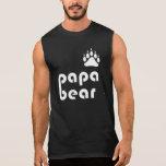 Papa Bear Bear Paw (White) Sleeveless T-shirt