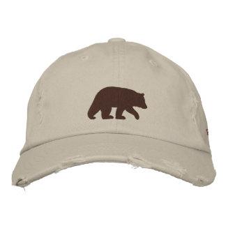 Papa Bear Brown Bear Embroidered Baseball Hat